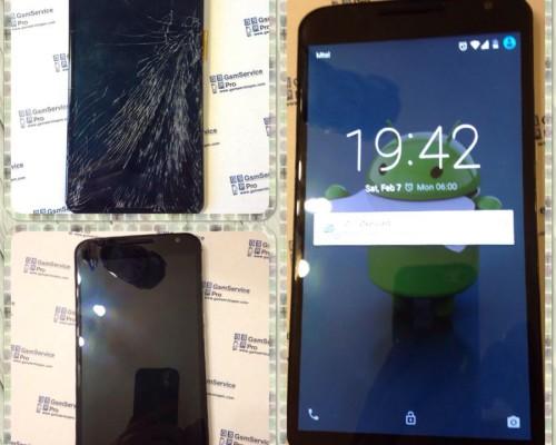 Nexus 6 смяна на счупено стъкло