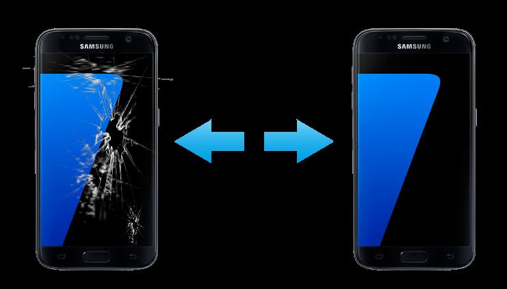 Смяна на счупено стъкло на дисплей LCD за Samsung Galaxy S7  Ремонт на захранващ блок на Samsung Galaxy S7 Смяна на микрофон на Samsung Galaxy S7 Ремонт слот на СИМ картата Проблеми с вибрацията, антената, wi-fi модула Samsung Galaxy S7 Смяна на предна и задна камера Samsung Galaxy S7 Смяна на батерия на Samsung Galaxy S7